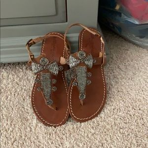 Free people sandals worn once